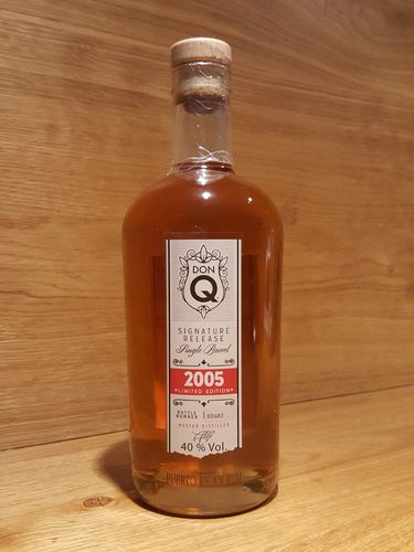 Don Q Signature Release Single Barrel Rum 2005