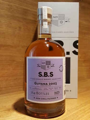 1423 S.B.S GUYANA Diamond Cask Strength Rum