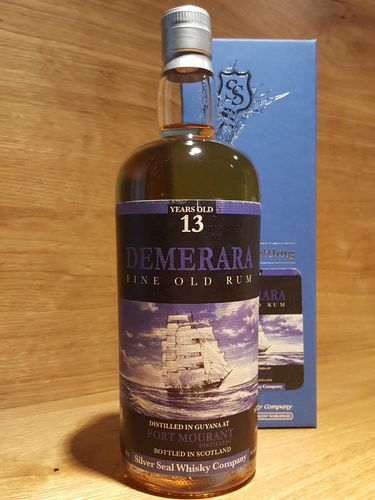 Silver Seal Port Mourant Demerara Fine Old Rum 13 Years Old 2003