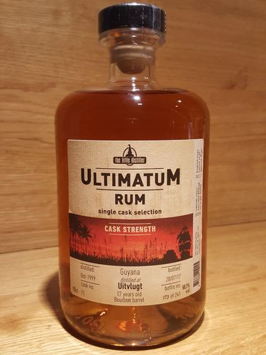 Ultimatum Rum Single Cask Selection Uitvlugt 17 Jahre CASK STRENGTH