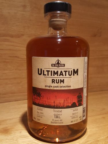 Ultimatum Rum Single Cask Selection T.D.L.25 Jahre