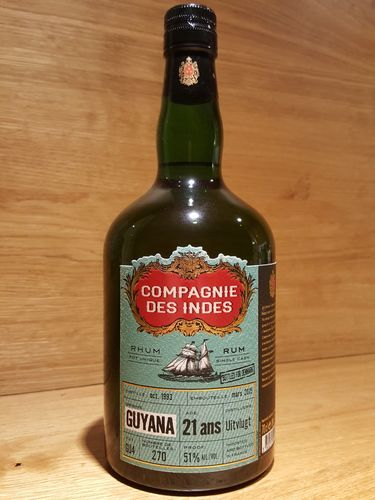 Compagnie des Indes Uitvlugt Guyana SC 21 Jahre - Bottled for Denmark