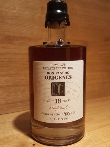 Rumclub Private Selection Origenes 18 Jahre Single Cask