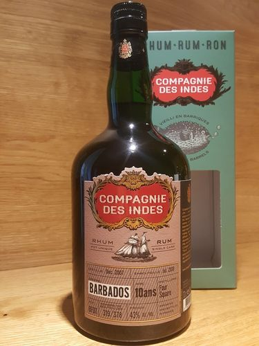 Compagnie des Indes Rum Foursquare Distillery 10 Jahre Single Cask Rum
