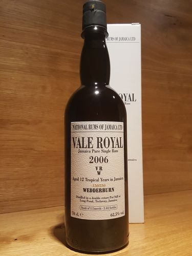 National Rums of Jamaica –  Vale Royal 2006 VRW 12 Jahre
