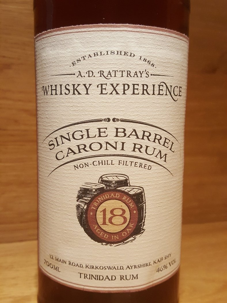 a d rattray s whisky experience single barrel caroni rum. Black Bedroom Furniture Sets. Home Design Ideas