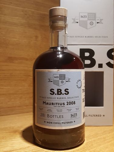 1423 S.B.S. Mauritius 2008 Grays Port Cask Finish
