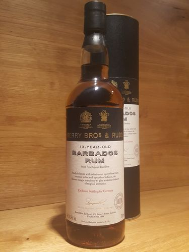 Berry Bros & Rudd Barbados Foursquare Rum 2004 13 Jahre - Bottled for Germany