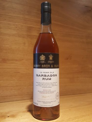 Berry Bros & Rudd Barbados Single Cask Rum CS 12 YO - Haromex