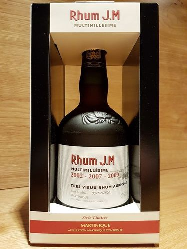Rhum J.M Multimillesime 2002 - 2007 - 2009