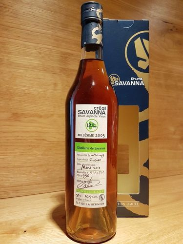 Savanna Creol Rhum Vieux Agricole Single Cask 12YO 2005/2018 Cognac Wood