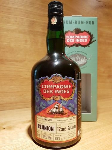 Compagnie des Indes Rum Réunion Savanna 12 Jahre CS Single Cask