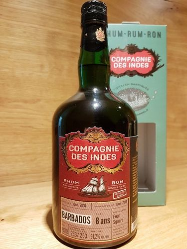 Compagnie des Indes Rum Barbados Foursquare 8 Jahre Cask Strength Single Cask Rum