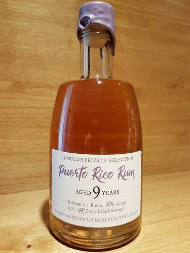 Rumclub Private Selection Ed. 11 Puerto Rican Rum 9 YO