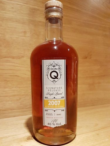 Don Q Signature Release Single Barrel Rum 2007