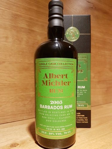 Albert Michler Single Cask Collection Rum Barbados Foursquare 2005/2020